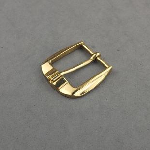 意大利皮带针扣头纯铜皮带头3.5cm正装镜面抛光黄铜针式皮带扣头