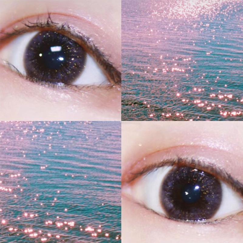 热销405件五折促销2片装美瞳女月抛小直径混血欧美网红款14.0mm灰色自然隐形眼镜mx