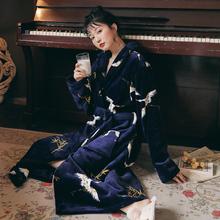情侣珊瑚绒睡袍女春秋冬季法兰绒浴袍睡衣加绒加厚加长款男士浴衣