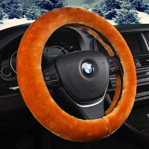 汽车方向盘套秋冬季保暖防滑短毛绒