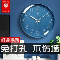 北极星钟表挂钟客厅轻奢现代简约时钟挂墙家用时尚挂表石英钟挂式