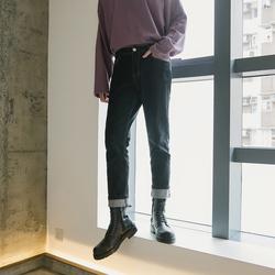 西西里男装秋季潮牌男生直筒牛仔裤