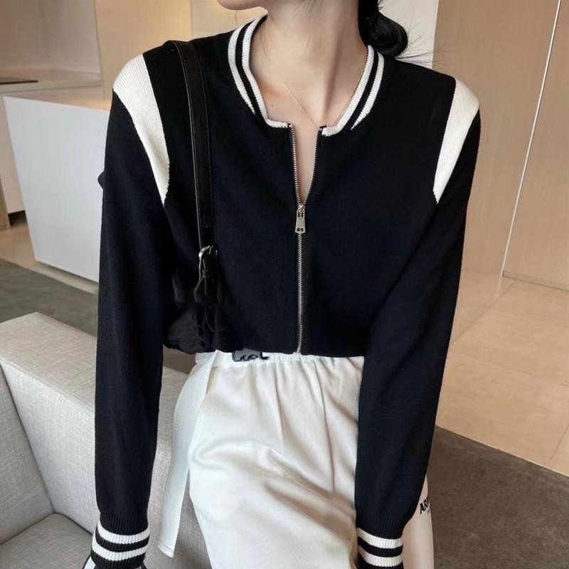 棒球服女ins潮春秋短款外套2021年新款百搭夹克宽松减龄休闲上衣
