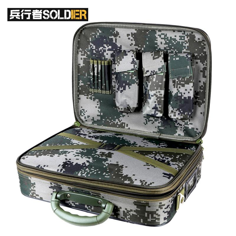 兵行者野战装备参谋作业箱 迷彩装备箱政工行李箱  军迷箱包