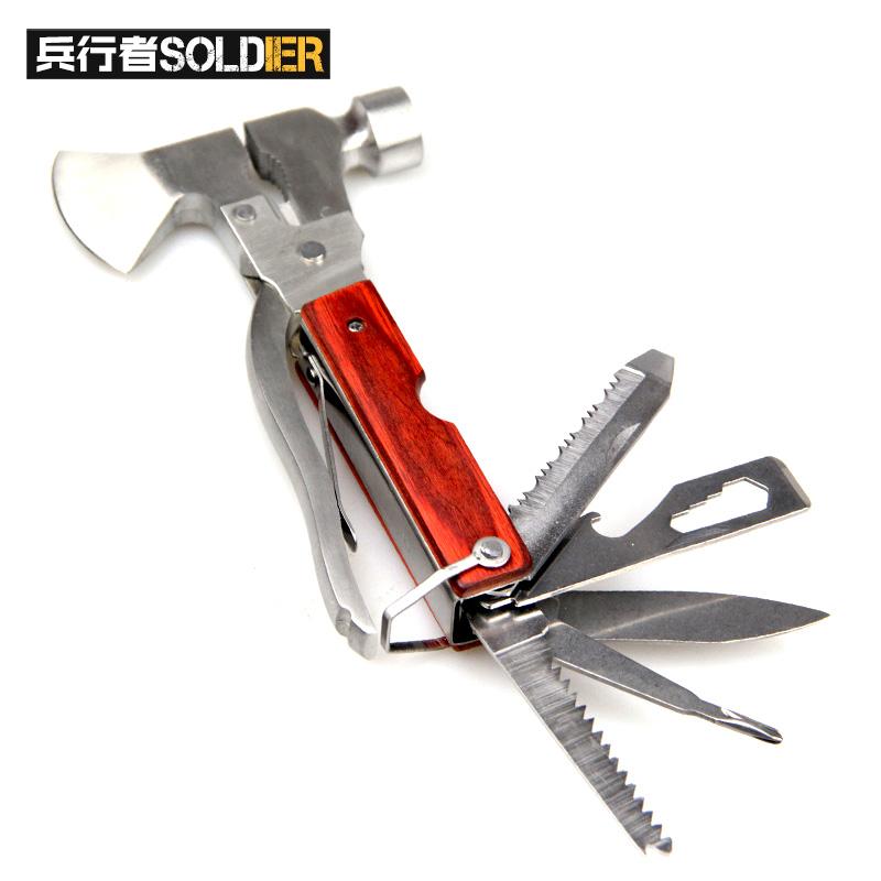 兵行者特工户外用品多功能小型工具手柄安全锤破窗器斧斧头钳集合