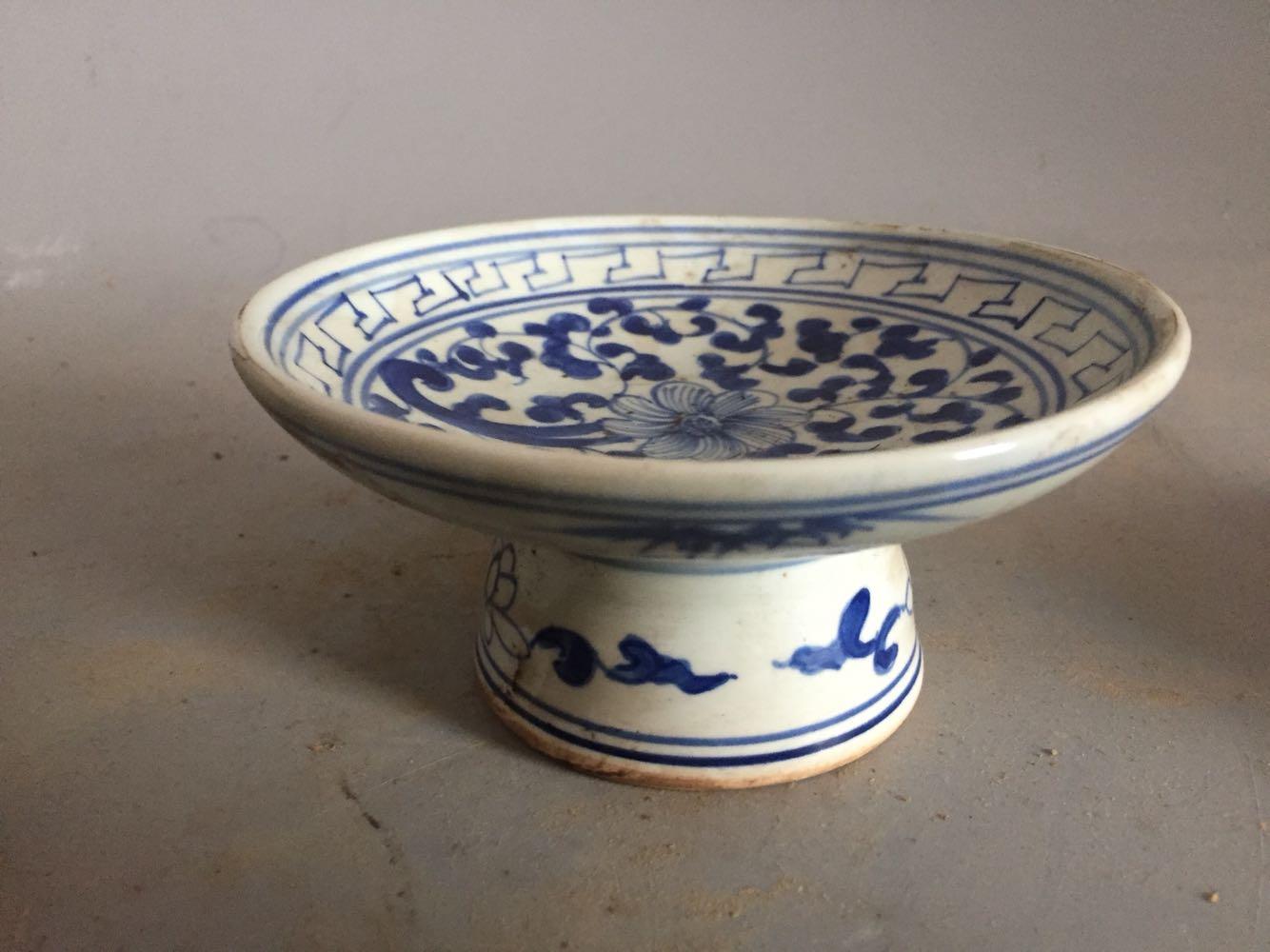 清代时期果盘古董瓷器古玩老货老瓷器高仿旧货收藏农村古瓷
