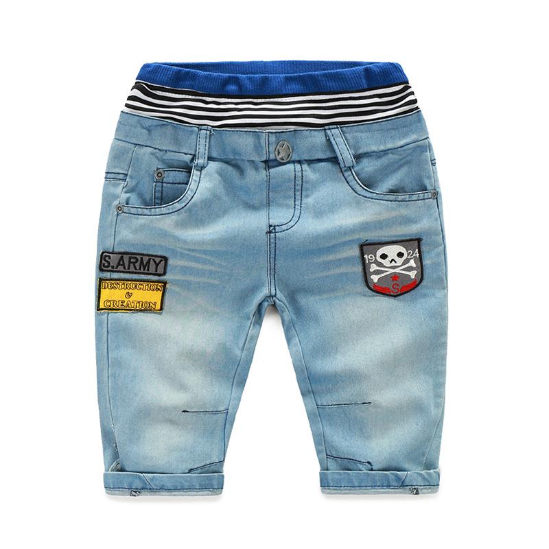 Корейская версия новой маркировки детей джинсы мальчиков ребенка в течение 5 минут штаны брюки kz-1830 лета 2016