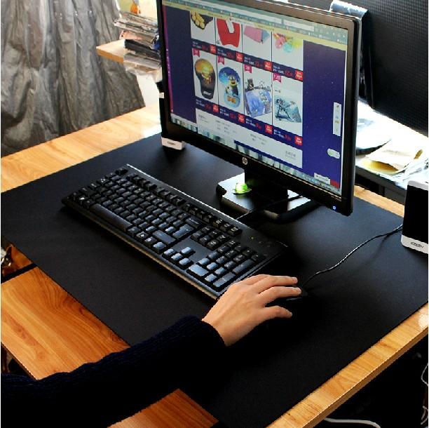 夢天超大號加厚鎖邊遊戲鼠標墊大號包邊筆記本電腦辦公桌墊鍵盤墊