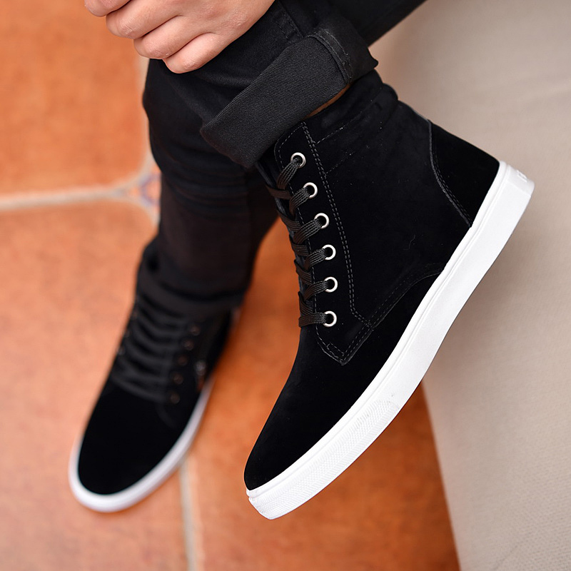 2019 new autumn mens shoes Korean fashion casual shoes fashion brand cotton shoes high top canvas shoes winter