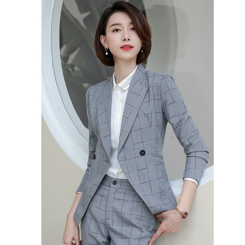 High end big temperament double breasted fried street small fragrance suit female consultant formal workplace professional coat autumn new style