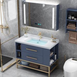 卫浴套装现代简约北欧轻奢浴室柜组合卫生间洗手池洗脸盆洗漱台柜