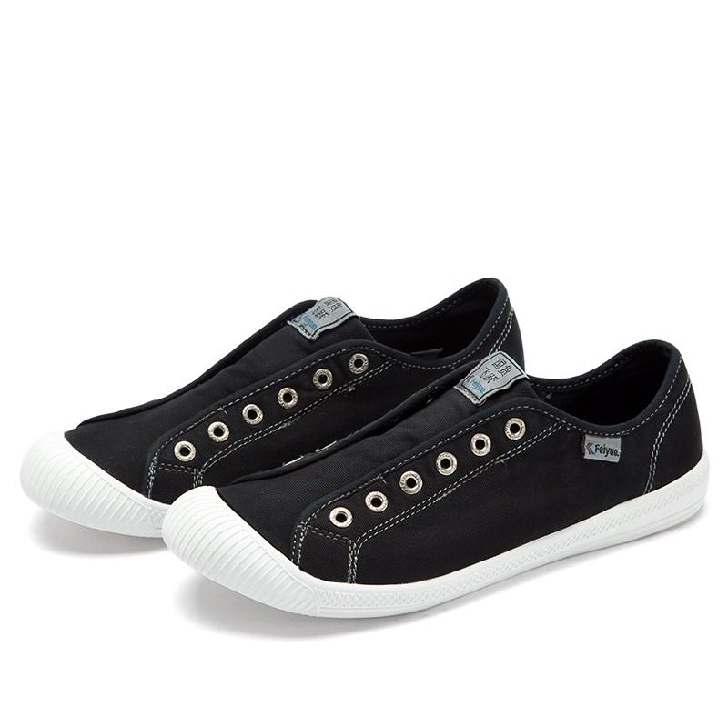 feiyue/飞跃新款低帮懒人鞋水洗做旧帆布鞋松紧带一脚蹬鞋子71012月02日最新优惠