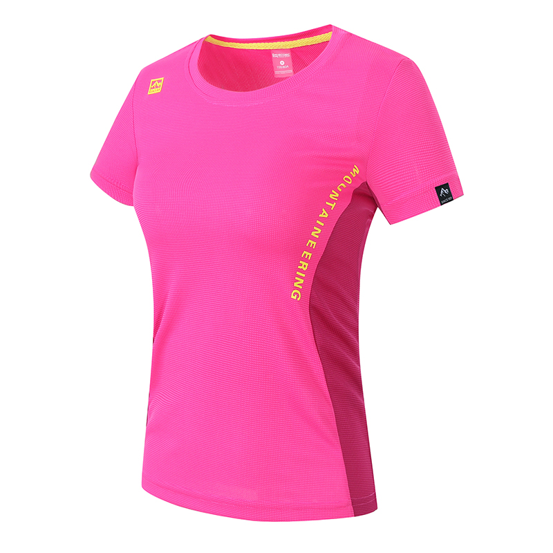 BNA sports T-shirt crew neck short sleeve womens summer girls quick dry clothes loose and breathable outdoor sportswear