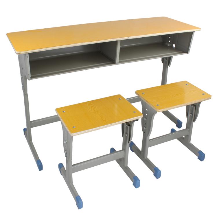中小学生学校课桌椅厂家直销单双人儿童写字桌家用培训辅导班书桌