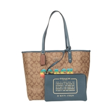 Coach / cotriolet large women's PVC with leather, one shoulder, hand-held double-sided Tote mother and child bag 45317