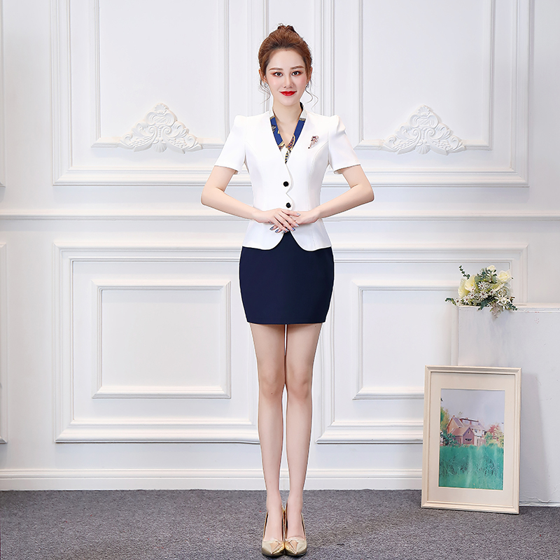 Night KTV princess dress work clothes DJ hotel attendant foot therapy technician work clothes bar short sleeve spring and summer
