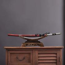 高档剑架剑托实木刀托刀架装饰宝剑架子底座象牙摆件黑檀红木剑架