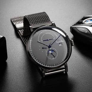 2018新款邦顿男士手表新概念机械表全自动防水大表盘镂空潮钢男表
