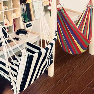 户外吊床荡秋千吊椅宿舍寝室大学生室内摇篮家用帆布网床掉床摇床价格