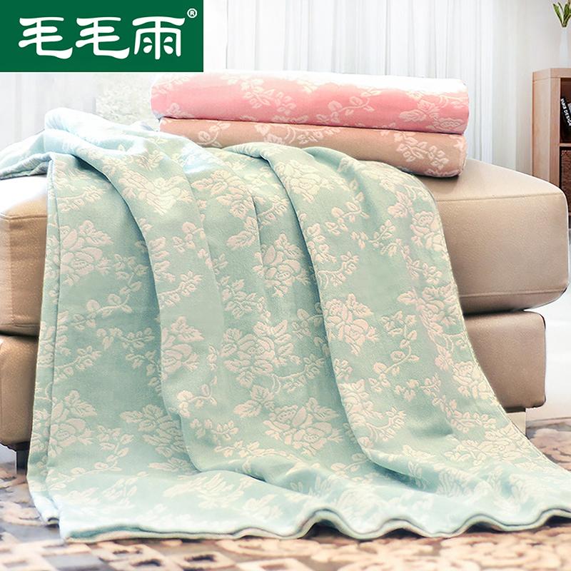 毛毛雨毛巾被纯棉毯子四季单双人薄成人午睡纱布毛巾毯空调夏凉被