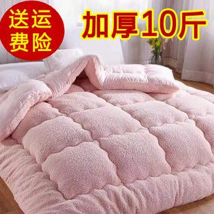 10斤加厚羊羔绒被子双人冬被棉被单人学生儿童保暖被芯冬季宿舍