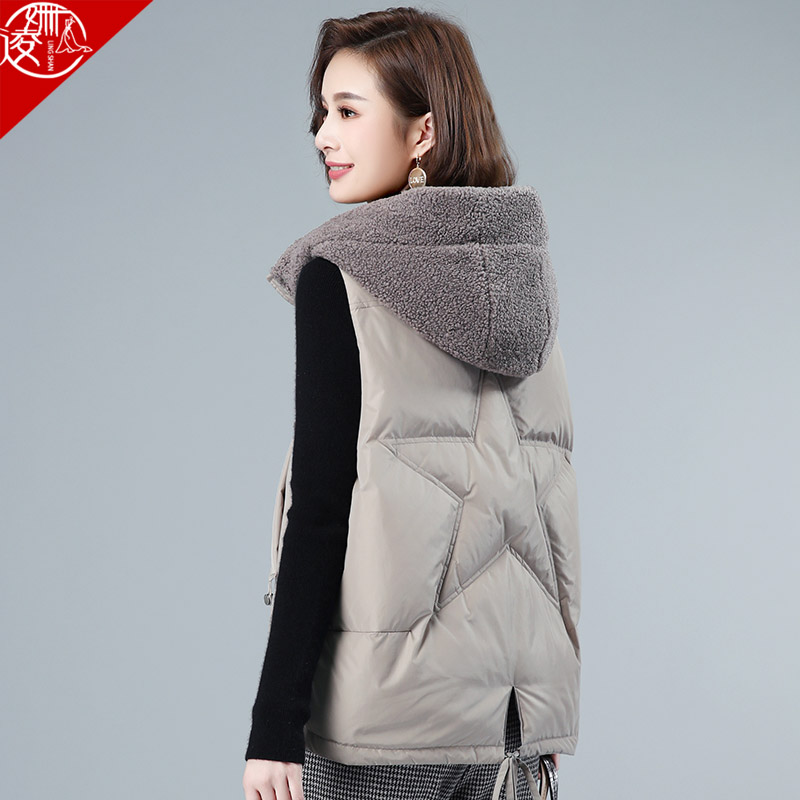 Down vest women autumn and winter 2020 new mother plus size all-match vest waistcoat outer wear vest jacket women winter
