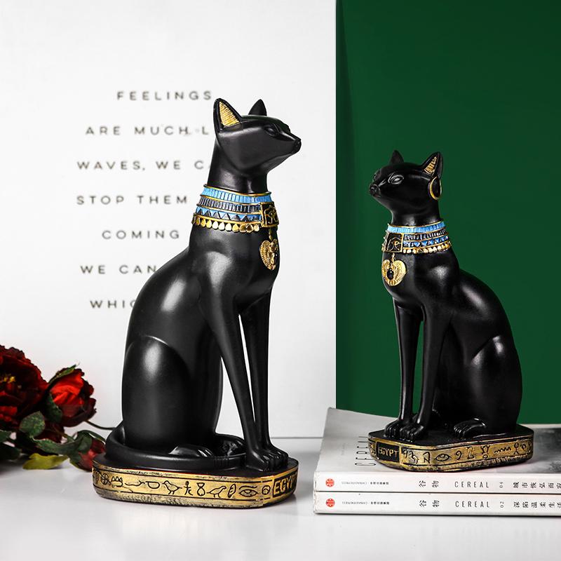 欧式复古创意埃及招财猫小摆件家居(用46元券)