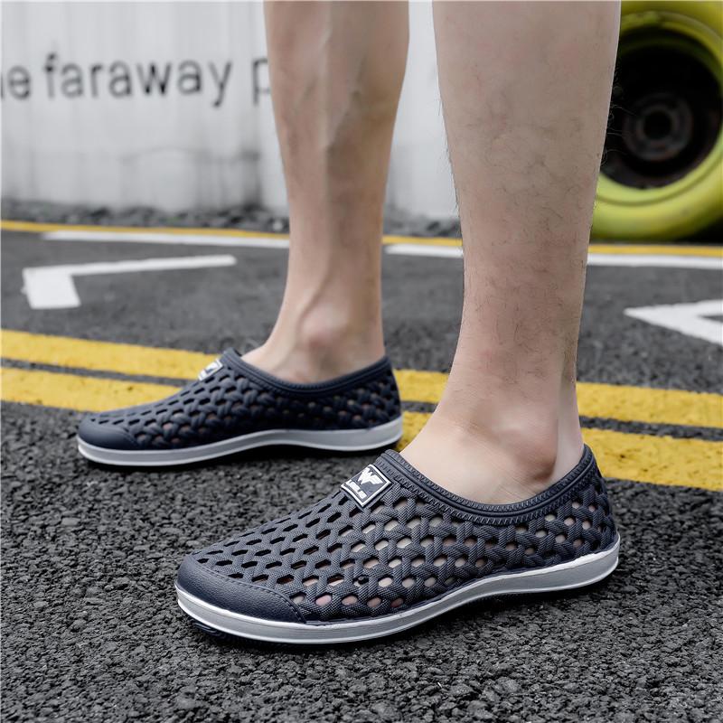 2021新品夏季男士洞洞凉鞋透气网鞋休闲鸟巢鞋户外涉水沙滩溯溪鞋