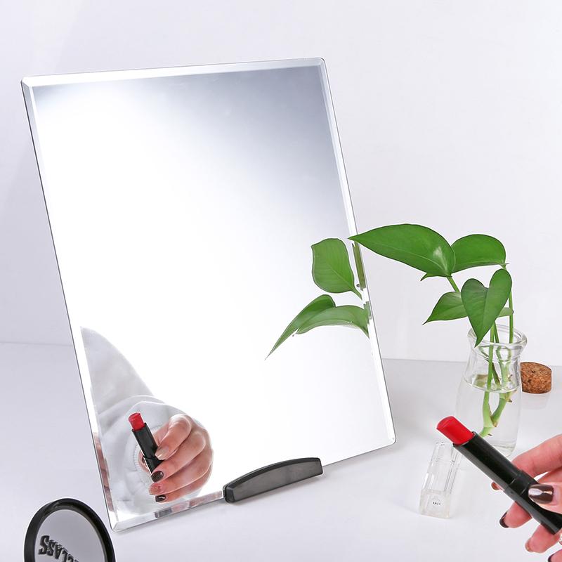 镜子大号梳妆台镜宿舍台式公主镜便携化妆镜桌面镜学生挂墙贴墙镜