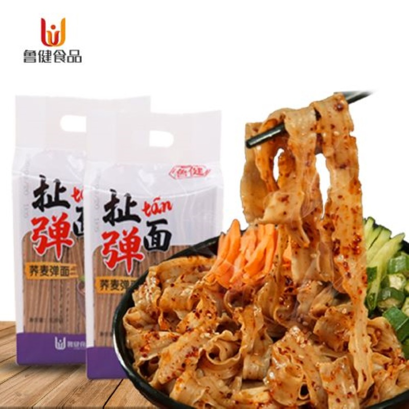 Buckwheat plucked noodles 1000g sliced noodles coarse grain wide noodles low fat low sugar mixed noodles oil spilled noodles instead of staple food noodles