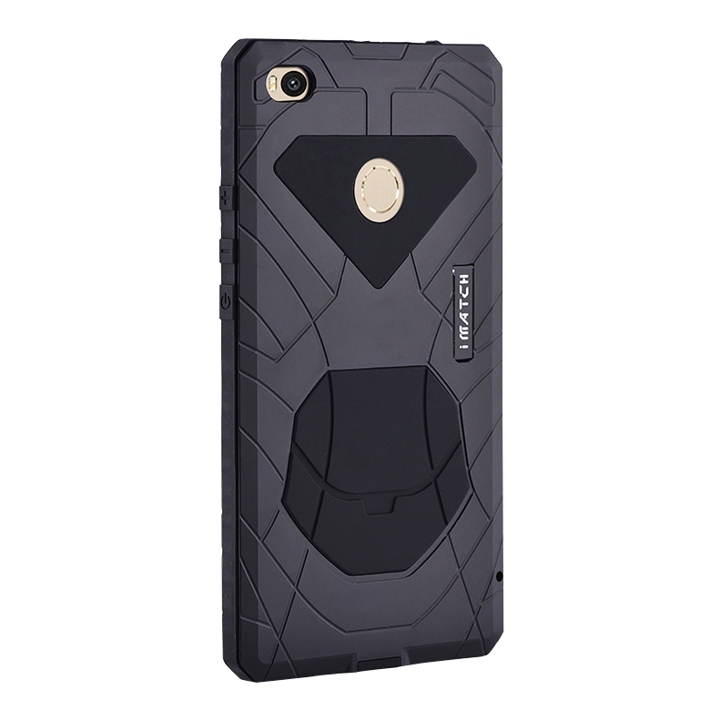 iMatch Water Resistant Shockproof Dust/Dirt/Snow-Proof Aluminum Metal Military Heavy Duty Armor Protection Case Cover for Xiaomi Mi Max 2