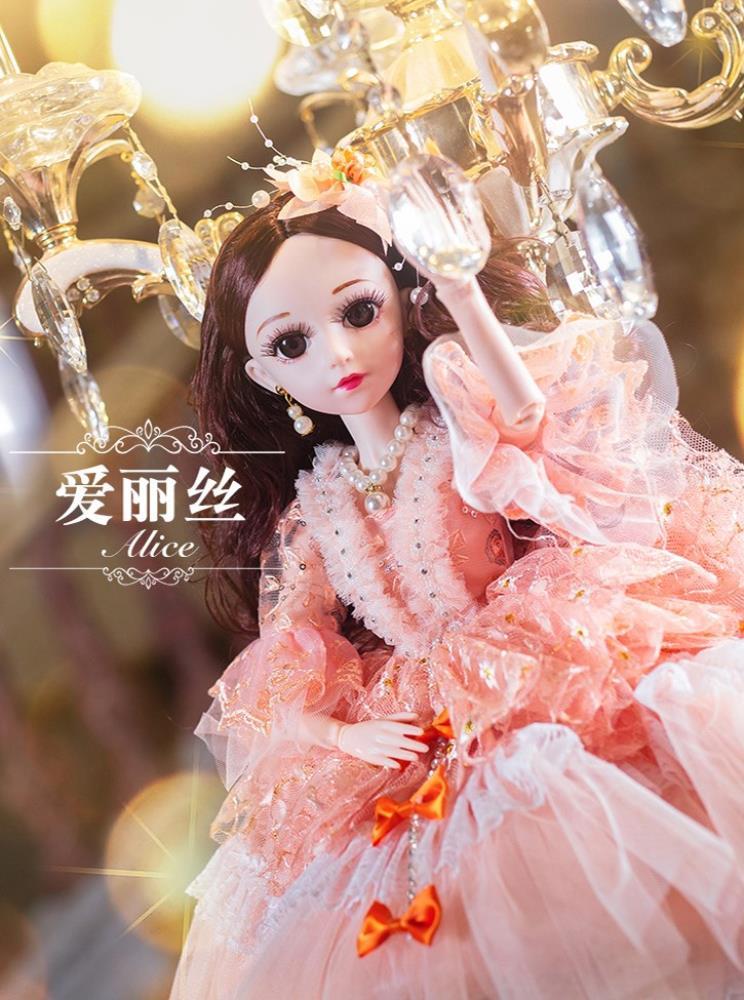 宝宝套装布料芭比嘟大洋娃娃女孩仿真公主60厘米古装衣服高跟玩具
