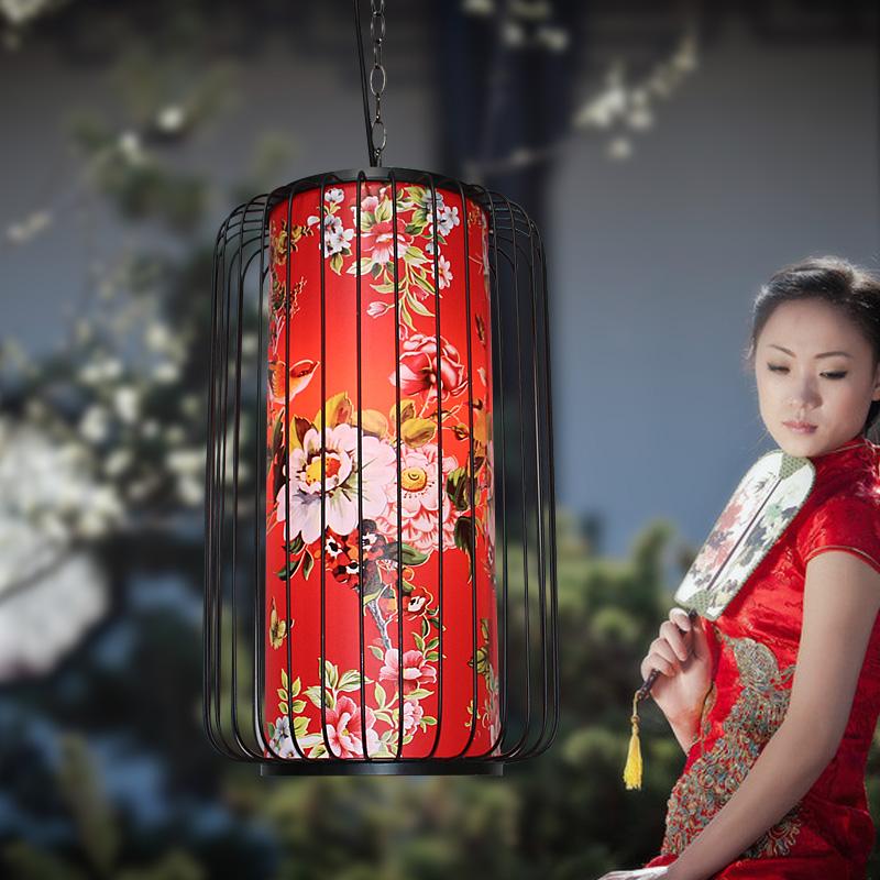 新中式茶楼饭店餐厅火锅店灯具创意铁艺灯鸟笼吊灯中国风灯笼灯