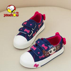 一休儿童帆布鞋 运动休闲板鞋韩版童鞋 春秋布鞋女童公主鞋子