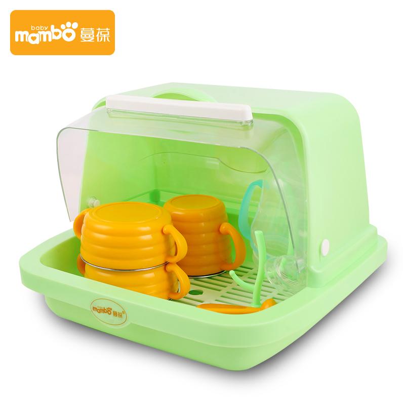 嬰兒奶瓶架收納箱碗筷儲存盒子寶寶餐具箱收納盒防塵整理存放箱