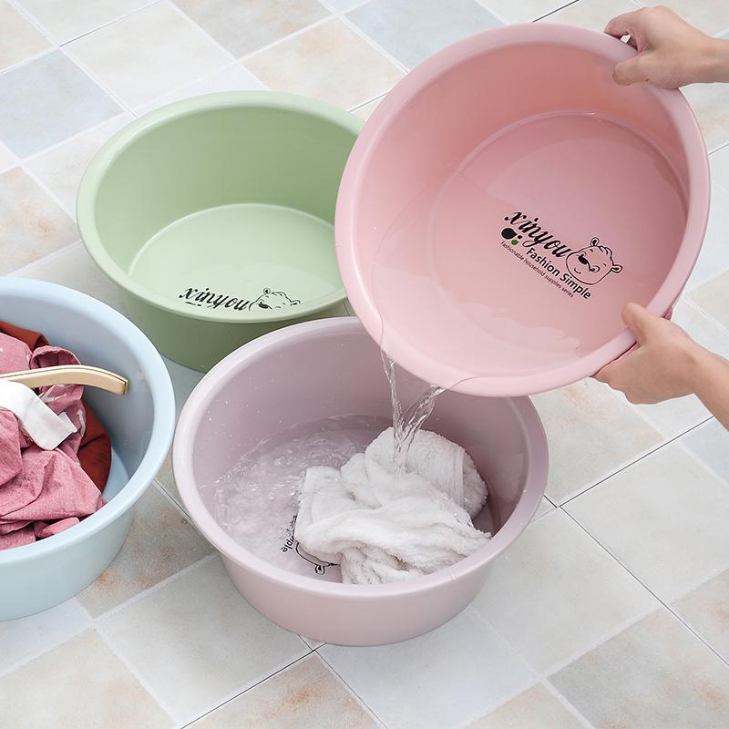 宅一起脸盆三件套 洗脸盆塑料家用盆子 学生宿舍脸盆 婴儿洗PP盆