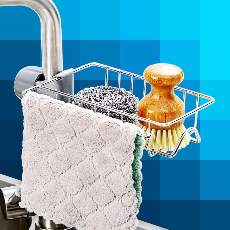 家居厨房用品用具不锈钢水龙头池槽置物架沥水收纳架神器家用大全