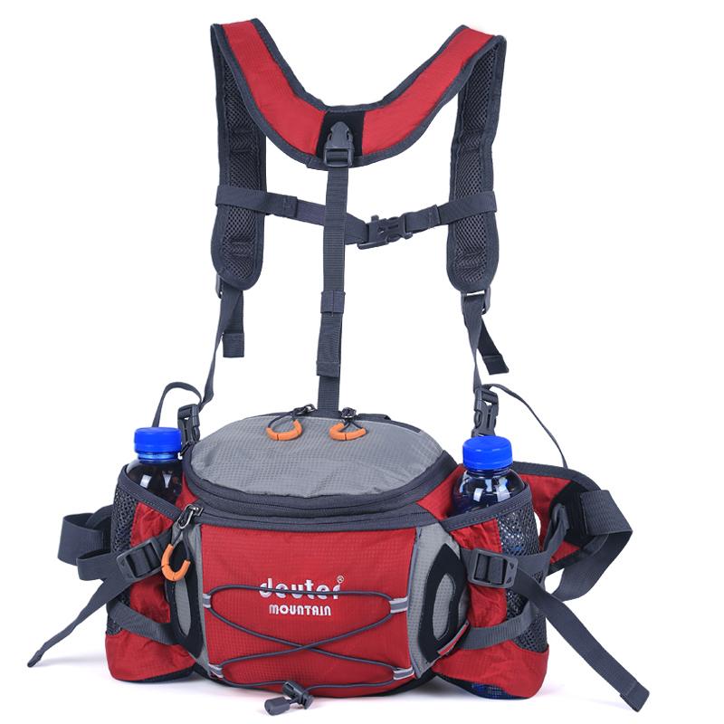 运动腰包水壶户外男多功能骑行背包防水双肩旅游女大容量登山装备