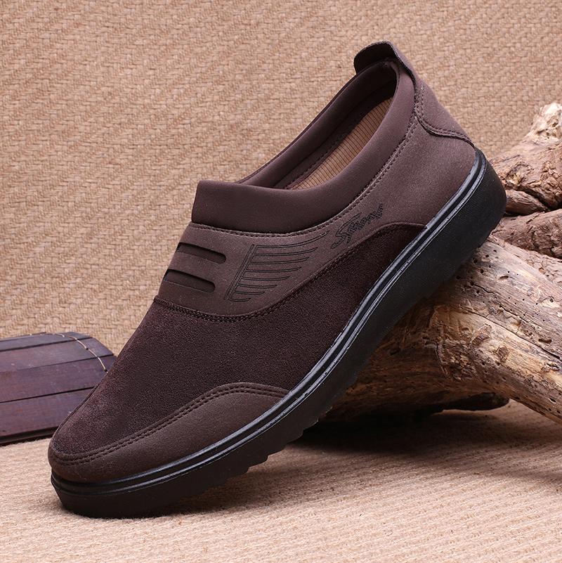 京晨老北京布鞋男款单鞋透气舒适轻便软底休闲男鞋大码鞋45 46 47