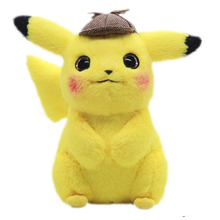 Genuine Big Detective Pikachu Dude Film with the same cute doll plush toy doll as a child Gift Girl