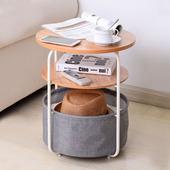 沙發邊幾側邊柜小茶幾簡約客廳電話幾邊桌角幾小戶型北歐圓形桌子