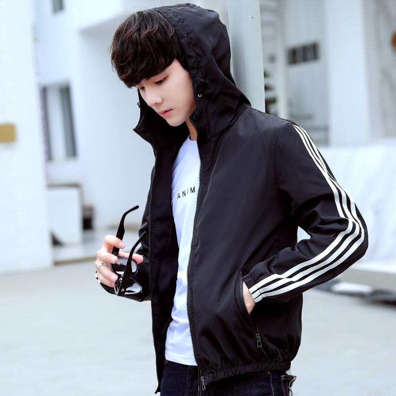 Mens coat spring sports new Korean fashion slim fit handsome spring and autumn coat thin Baseball Jacket men