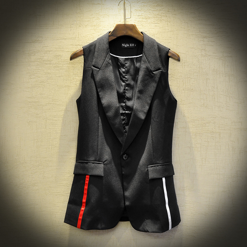 Spring and summer fashion men 2020 new Korean version of slim waistcoat waistcoat and suit