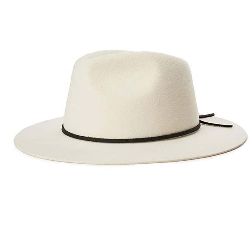 代购Brixton纯羊毛软毛呢帽男士礼帽大檐西部牛仔帽英伦男帽