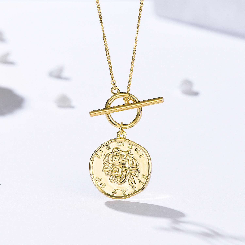 纯银项链女潮牌网红锁骨链2020年新款简约气质复古风小众设计感