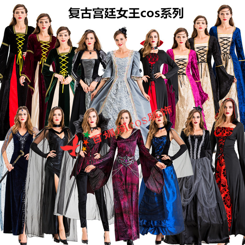 Halloween cos vampire devil costume court Witch Costume role play Countess queen Party Costume