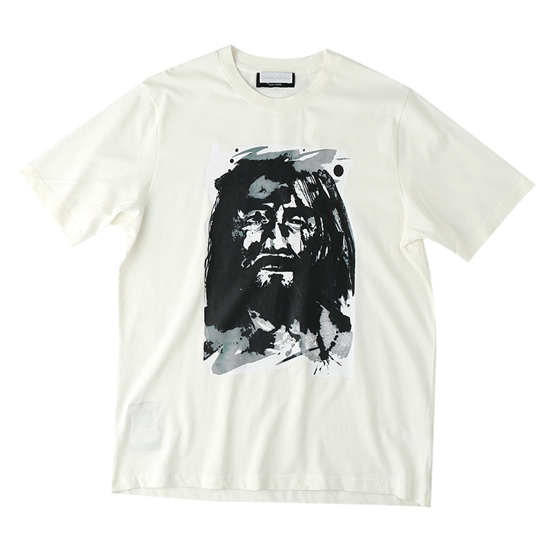 Nlnl / richaoyamamoto Yao wilderness Abstract summer printed short sleeve mens and womens cotton crew neck t-shirts
