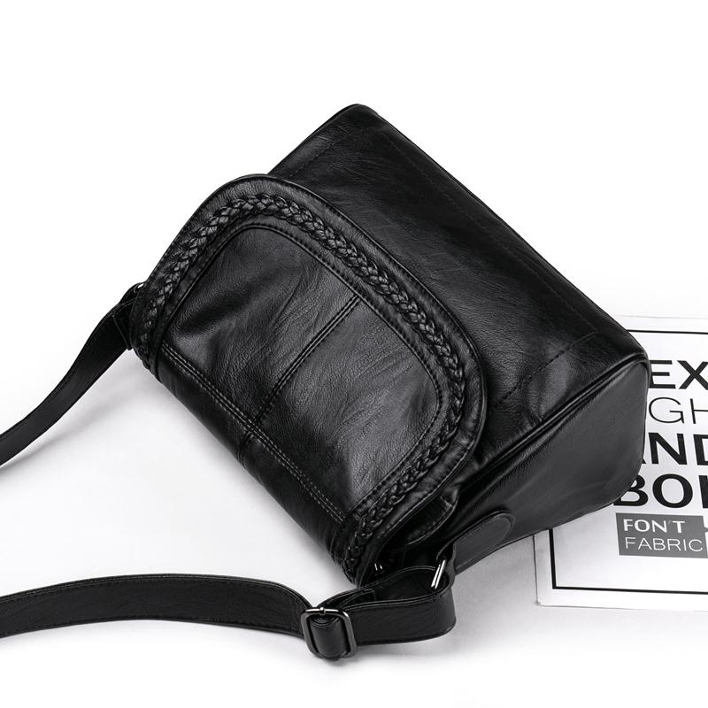 欧娜诗真皮女式包包2020新款妈妈包休闲编织牛软皮女斜挎包单肩包