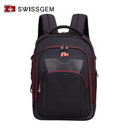 十字军刀双肩包 时尚14寸笔记本电脑学生背包 大容量男休闲商务包