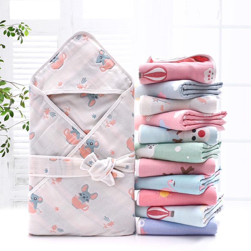 初生婴儿包被薄款新生儿A类六层纯棉纱布宝宝襁褓抱被纯棉透气夏